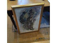Vintage Large Framed Original Painting