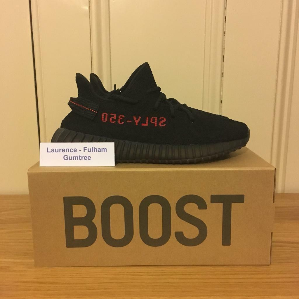 0ca9ba3db Adidas YEEZY Boost 350 v2 Bred Size UK 8 (Black Red)