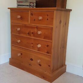Bedroom furniture set (3 Piece) Large Wardrobe; Chest Of Drawers & Bedside Table