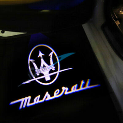 2x Door Projector Welcome Shadow Lights for Maserati Ghibli 14-19 Trident Logo