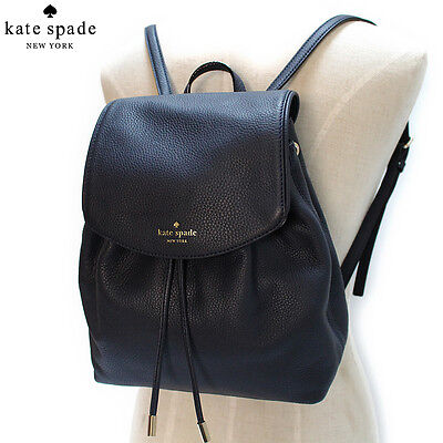 NWT Kate Spade Small Breezy Mulberry Street Leather Backpack Bag Black $329