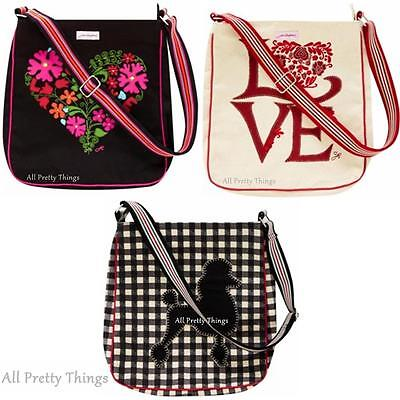RRP £40- JAN CONSTANTINE Designer Messenger Bag ULSTER WEAVERS -FREE Post W/wide