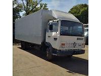 Left hand drive Renault Midliner S100 7.7 Ton tilt truck. Low miles. MOT till 2018.