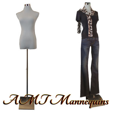 Female mannequin for pants, dress form+1 black nylon cover, white torso-F-PB-51