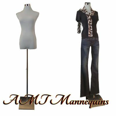 Female Mannequin For Pants Dress Form1 Black Nylon Cover White Torso-f-pb-51