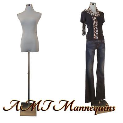 Female Mannequin For Pants Dress Form2 Nylon Covers White Torso-f-5