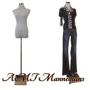 Female mannequin for pants, dress form+1 black nylon cover, white torso-F-PB-51