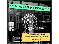 **MODELS REQUIRED - FREE HAIRCUTS at Teddy Edwards, Hove**