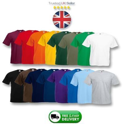 100% Genuine Fruit Of The Loom T-Shirts, Plain Top Cotton Tee-Shirts FOTL Tshirt