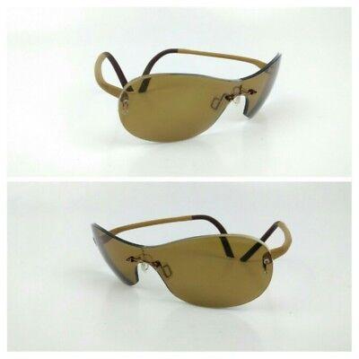 Minima Titanium Rimless Eyeglasses Frame France Brown Unisex Rx 15/130mm