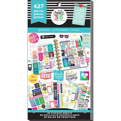 Mambi Create 365  The Happy Planner   Sticker Book  Quotes 427 Stickers