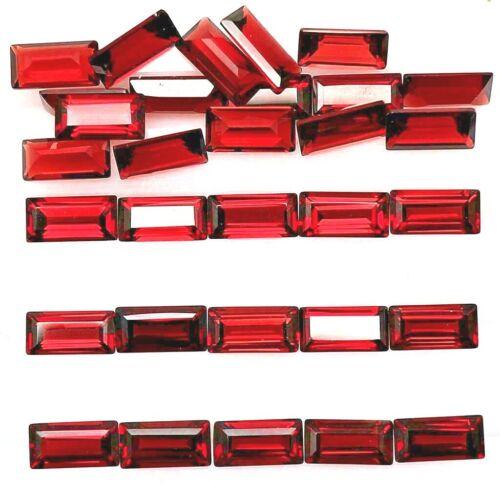 Wholesale Lot 6x3mm Baguette Cut Natural Mozambique Garnet Loose Calibrated Gems