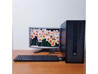 Complete HP PC Computer Windows 10, Intel Core i5-4570S 8GB RAM & 500GB HDD Wifi Office