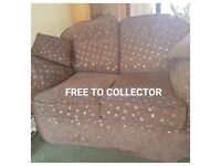 Two Seater Sofa - Excellent Condition - Free to Collector