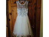 White quiz prom dress