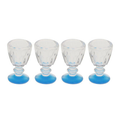 1/12th Plastic Mini Wine Goblet Water Cup Dollhouse Miniature - Plastic Water Goblets