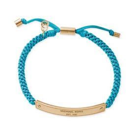 Michael Kors Turquoise Blue And Gold Plaque Bracelet RRP£69