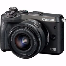 WANTED - Canon EOS M6 Digital Camera with Lens (All black colour)