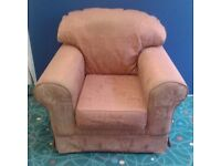Red/Terracotta Patterned Armchair