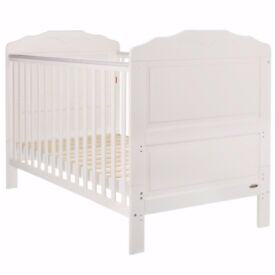 OBABY BEVERLY COT BED - WHITE