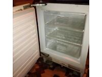 integrated under counter freezer in excellent condition can deliver