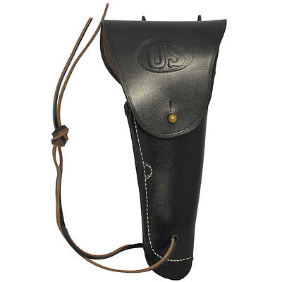 Black Leather US Holster For M1916 Colt Pistol Repro M1911 Holder American Army