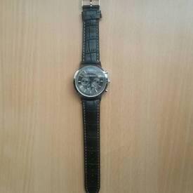 Black Strap Armani Wrist Watch