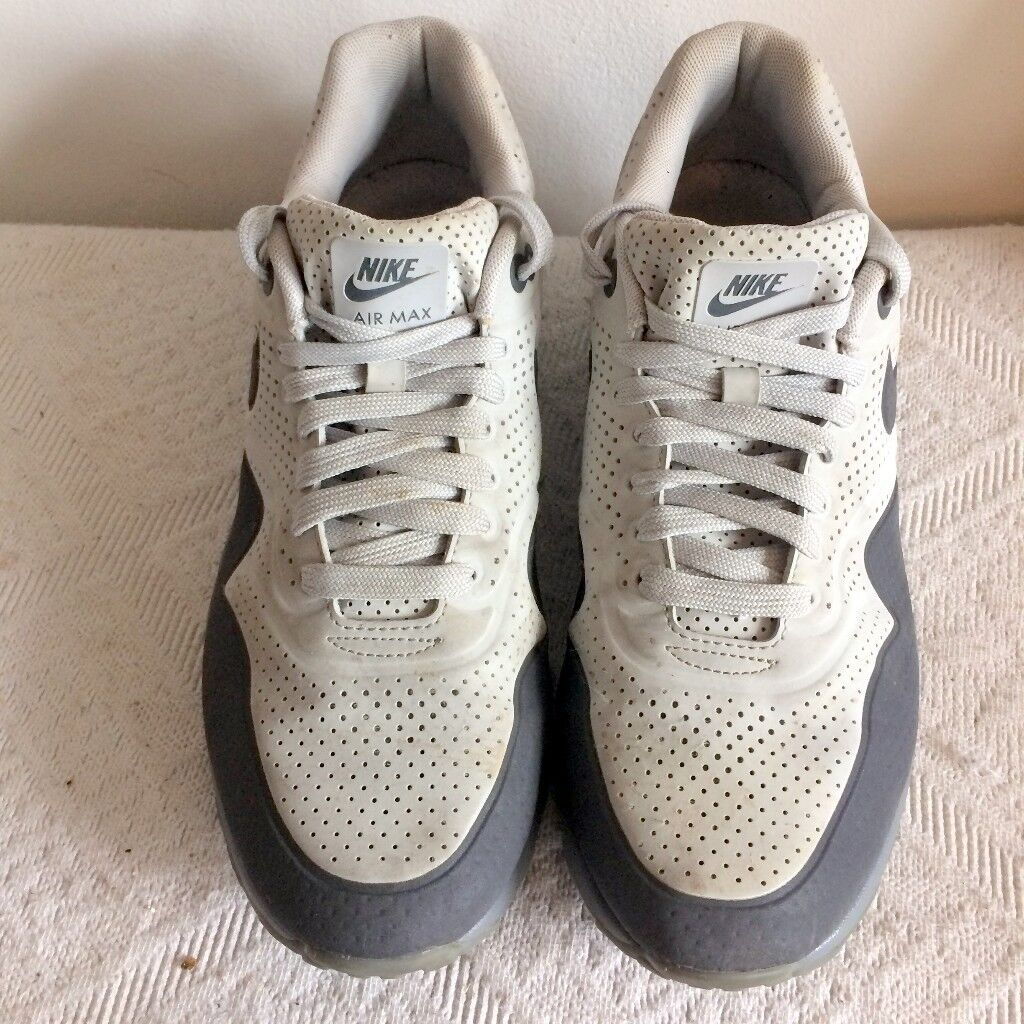 quality design ba8c0 1a389 RARE Nike Air Max 1 Ultra Moire Grey   Dark Grey Mens Trainers - Model  705297 002
