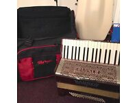 accordion 80 bass vintage double register rauner ariola