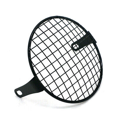 Motorcycle Headlight Mesh Grill Protector Guard Cover Metal For 5.75