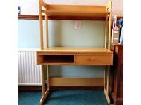 Desk Scandinavian Solid Wood Draughtsman Artist Study Engineer Height Adjustable & Tilting.