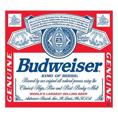 Budweiser Vinyl Sticker Decal Logo 4 Stickers 4""