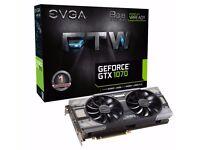 EVGA GeForce GTX 1070 FTW GAMING ACX 3.0 8GB GDDR5 VR Ready RGB LED