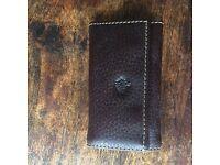 Mulberry full grain brown leather key/wallet holder