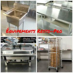 ACIER INOX Evier , Table de Travail , Echelle a Patisserie, Rechaud / STAINLESS STEEL Sinks Tables Angle Rack Chafing Hu