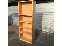 Brown laminate bookcase