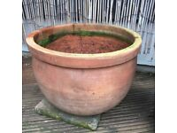 Terracotta pot. Large. Heavy. Diameter 17inch, 43cm, Height 13 inch, 33cm.