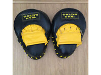 Golds Gym focus pads in very good condition RRP £40.00