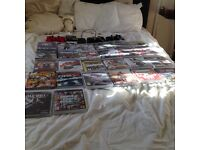 PlayStation 3 (360 gb) + 3 controllers- 26 games