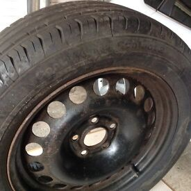 Brand new Vauxhall Zafira tyre and wheel