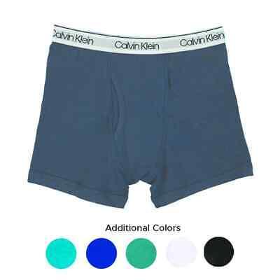 6 Calvin Klein Boys' Youth Boxer Briefs, X-Large (XL)