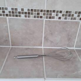 Silver stainless steel whisk excellent condition