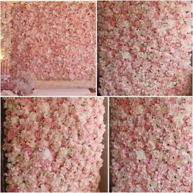 Flower Wall and other Wedding Table Decorations/ Decorators centrepieces & chair covers hire