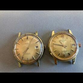 Vintage 9ct plated Tissot seastar automatic / Rodania sport 17 jewel incabloc 9ct gold plate