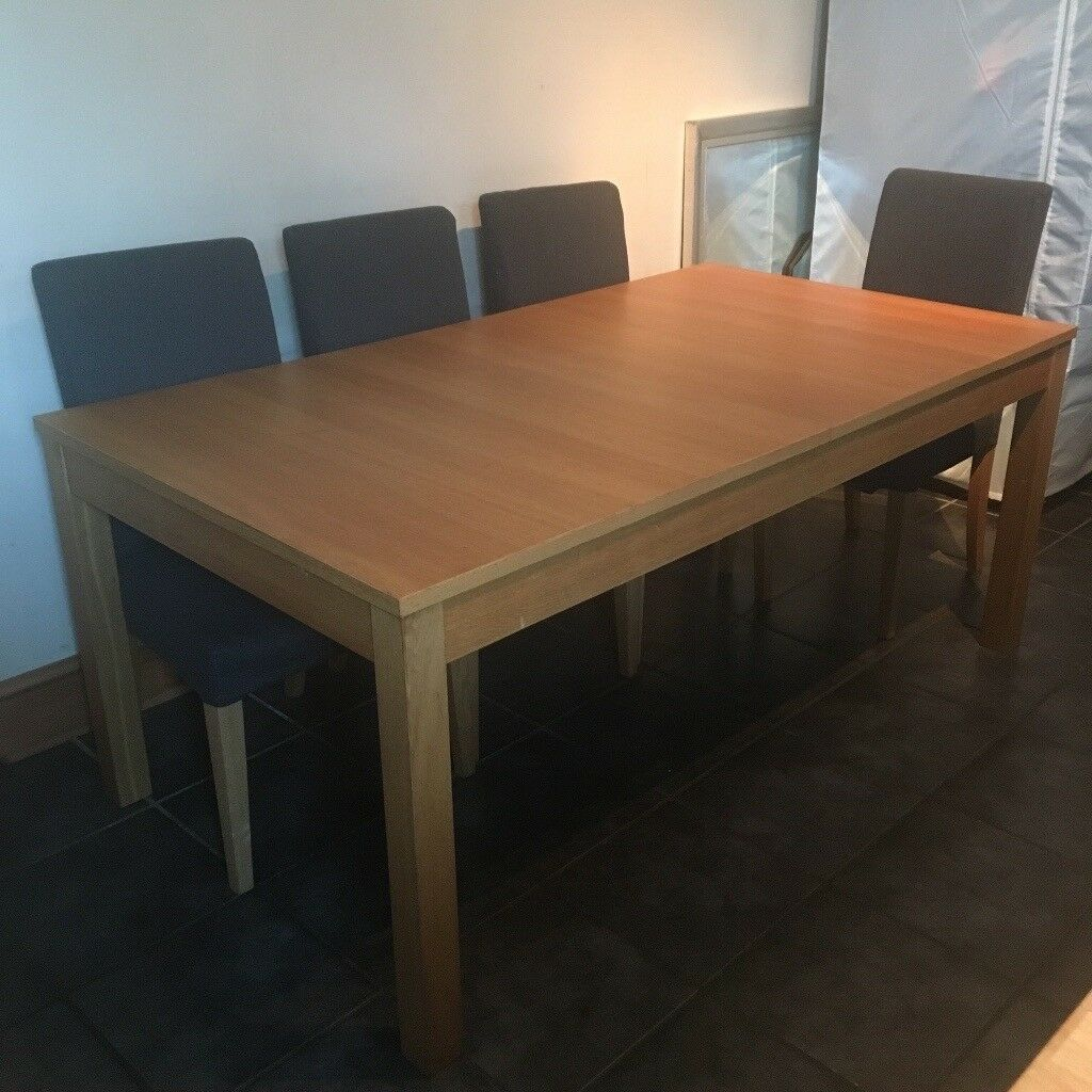 Ikea Breakfast Table: IKEA BJURSTA Extendable Dining Table And 8 HENRIKSDAL