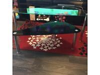 2x glass coffee tables
