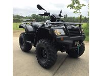 ROAD LEGAL 4WHEEL DRIVE QUAD BIKE - QUADZILLA TERRAIN 500 - BLACK - 12 MONTHS WARRANTY