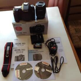 Canon 70d digital SLR and canon ef-s 18-55mm image stabilisation lens
