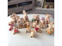 Set of 15 piggin figures