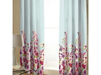 """Catherine Lansfield Pencil Pleat Curtains 66 x 72"""" Drop Floral Meadow"""